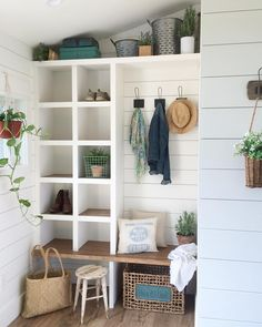 "627 Likes, 68 Comments - Kelley VanEgmond (@singlesilofarmhouse) on Instagram: ""Saturday is by far my favorite day of the week and this mudroom is by far my favorite room in the…"""