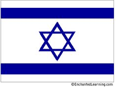 This is the flag of Israel. You can tell that the country is Jewish because of the Star of David on the flag.