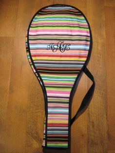 Monogrammed Tennis Racket Covers