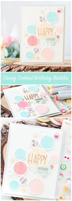 Candy Colored Birthday Bubbles Card. Find out more by clicking on the following link: http://limedoodledesign.com/2016/08/candy-colored-birthday-bubbles/ #SSSFAVE