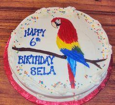 Parrot cake for Sela's 6th