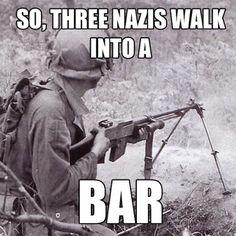 Three nazis walk into a BAR