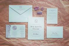Florida Boca Raton Rose Gold Foil Letterpress Wedding Invitation by Fourteen-Forty with custom map #fourteenforty #newyorkwedding #citywedding #stationery #customstationery