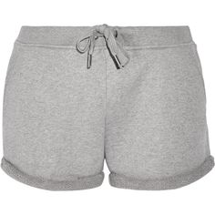 T by Alexander Wang Cotton-terry shorts ($105) ❤ liked on Polyvore featuring grey and t by alexander wang