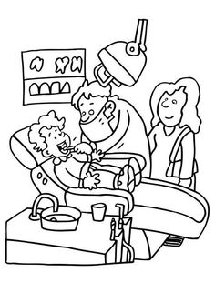Visiting Dentist For Teeth Health Coloring Pages : Coloring Sun - Cuidado Bucal Teeth Health, Healthy Teeth, Oral Health, Dental Health, Dental Care, Dental Kids, Free Coloring Sheets, Coloring Pages For Kids, Kids Coloring