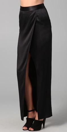 Floor length black maxi satin skirt, high waist, high quality tailor made, High fashion, Custom order Haute Couture Style, Silk Charmeuse, Satin Skirt, Black Maxi, High Fashion, High Waisted Skirt, Trending Outfits, My Style, Jenni