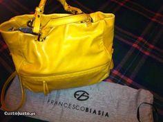 CH Mala de pele amarela Francesco Biasia