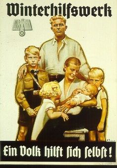 It's funny how the Nazi Propaganda posters depicted the men as the watchers of the family while the women tended to the children.....