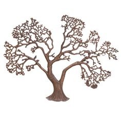 Tree-inspired metal wall decor with a natural finish.  Product: Wall decorConstruction Material: Aluminum...