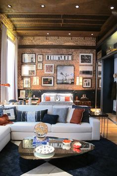 Brick, ceiling, rug... love everything about this
