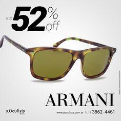 Óculos de Sol Armani com 52% de desconto.  Acesse 👉 www.aoculista.com.br/giorgio-armani e confira!  Compre em Até 10x Sem Juros e frete grátis  #aoculista #armani #glasses #sunglasses #eyeglasses #oculos