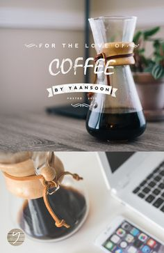 Pour Over Coffee - Chemex Hario Betelli - by Yaansoon | For the Love of Pour-Over Coffee & Italian Moka + Printable Coffee Wall Art