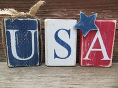 USA Blocks 4th of July/Patriotic Blocks by DaisyBlossomCreation, $12.99