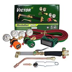 Victor Technologies 0384-2544 Medalist 250 System Medium Duty Cutting System, Propane/Natural Gas Service, G250-60-510LP Fuel Gas Regulator by ESAB -- Awesome products selected by Anna Churchill