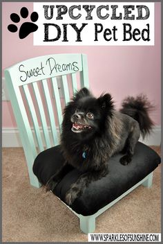Have an old chair seeking a new purpose? Check out this easy Upcycled DIY Pet Bed at Sparkles of Sunshine!
