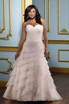 Vestidos de novia tallas grandes: Fotos de los mejores - Vestido de novia rosa