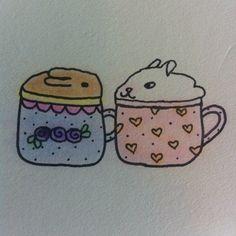 Tea for two.     P.S. Follow my Tumblr, http://christinanotchris.tumblr.com/