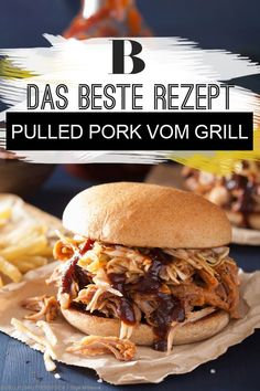 Make pulled pork yourself in the kettle grill. Pulled pork is an integral part of the American BBQ culture and is also becoming increasingly popular in this country. In addition to spare ribs and beef Pulled Pork Burger, Making Pulled Pork, Pork Burgers, Pulled Pork Marinade, Marinated Pork Chops Grilled, Vietnamese Grilled Pork, Juicy Pork Chops, Baked Pork Chops, Perfect Pork Chops