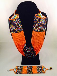 Your place to buy and sell all things handmade African Beads, African Jewelry, Bead Jewellery, Beaded Jewelry, Jewelry Necklaces, Craft Accessories, Fashion Accessories, Zulu Women, Neck Piece