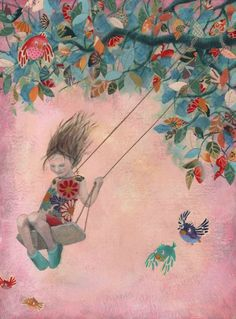 natural beauty - littleg: Anna Castagnoli Art that would be great for a kids room someday.