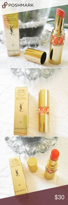 $39 YSL ROUGE VOLUPTÉ LIPSTICK 32 Brand new with box! Bought from the YSL website ❤️ 💯 Authentic 💄 color 32 Yves Saint Laurent Makeup Lipstick