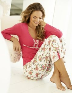 2e6e02401c Amazon.com  Fashion High Quality Red Rose Sleepwear Pant SET 7487 Made in  Colombia