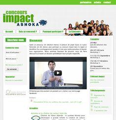 La Petite Agence (ex La Factoria) a réalisé le site du concours Impact Suisse pour Ashoka.