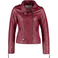 Buy Red Esprit Leather jacket for woman at best price. Compare Jackets prices from online stores like Zalando - Wossel United States Jackets For Women, Leather Jacket, Fashion, Mermaids And Mermen, Red, Jackets, Women, Cardigan Sweaters For Women, Moda