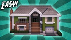 Minecraft: How To Build A Large Suburban House Tutorial ( Minecraft Modern Mansion, Minecraft Beach House, Minecraft House Plans, Minecraft City Buildings, Minecraft Houses Survival, Easy Minecraft Houses, Minecraft House Tutorials, Minecraft Houses Blueprints, Minecraft House Designs