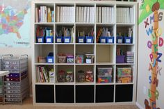 This Shelf System (Expedit from Ikea $199) is perfect for my 5 children's homeschool books. Seeing this I'm sold on the idea of getting it. We trust Ikea quality as we have many items in our home from there.
