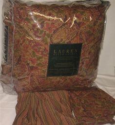 RALPH LAUREN Springdale Essence Of Fall QUEEN COMFORTER SET NEW 1ST QUALITY #RalphLauren
