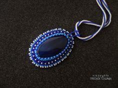 Wielki Błękit naszyjnik z agatem Niezwykła Projektownia #blue #agate #handcrafted #bijou