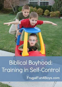 Life with boys is often filled with energy, action, and impulsive behavior.  Some thoughts on figuring out where to draw the lines when it comes to teaching self-control. {From a Christian perspective}