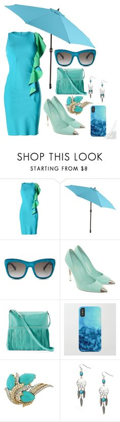 """Turquoise"" by dramagirl4 ❤ liked on Polyvore featuring Christies à Porter, Pier 1 Imports, Gucci, Gianvito Rossi, ILI and David Webb"