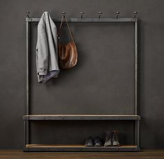 Entryway bench coat rack bench coat rack bench shoe storage ideas perfect entryway bench shoe storage elegant best hallway furniture entryway bench and coat Coat Rack Bench, Bench Coats, Coat Racks, Rack Shelf, Coat And Shoe Rack, Shoe Rack Bench, Wall Racks, Small Furniture, Metal Furniture