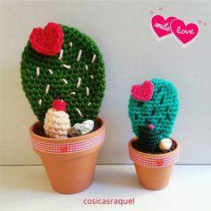 Cactus Crochet / Cactus del Amor | Aprender manualidades es facilisimo.com