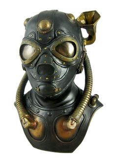 Steampunk Gas Mask Bust Statue