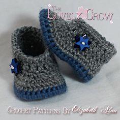 Chaussures de bébé Crochet Pattern pour chausson par TheLovelyCrow