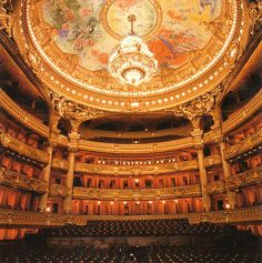The Chagall ceiling of the Paris Opera House - I can't believe that every time I've been to Paris the orchestra has been practicing and they wouldn't let me in! Next time...