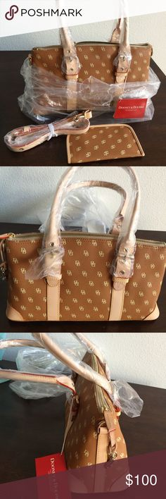 DOONEY & BOURKE  SMALL SATCHEL AUTHENTIC BAG AND EYE GLASS HOLDER AND STRAP.(MEASUREMENTS 13INCHES WIDE AND 9INCHES DEEP)MORE LIKE A SADDLE COLOR DOONEY BOURKE Bags Satchels