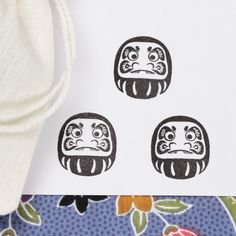 JAPANESE DARUMA Doll Rubber Stamp Paper Card Making Art and Scrapbooking Craft at Save Prices. FREE Cotton Fabric Drawstring Pouch Bag. Rs84