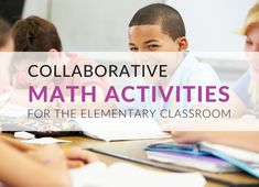 5 Math Activities that Promote Collaborative Learning in the Classroom Education Quotes For Teachers, Elementary Education, Reading Activities, Kindergarten Activities, Preschool, Cycle 1, Math Classroom, Educational Technology, Collaboration