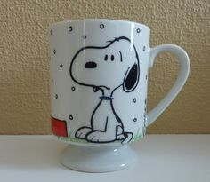 Vintage SNOOPY Coffee Mug  I Hate It When It Snows On My French Toast! Schulz