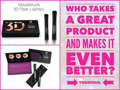 Younique's enhanced Fiber Lashes+ - no falsies - no glue! It's quick and easy to apply, goes on just like mascara! 3d Fiber Mascara, 3d Fiber Lashes, 3d Fiber Lash Mascara, Uplift Eye Serum, Natural Makeup, Organic Makeup, The Balm, 3 D, Beauty Makeup
