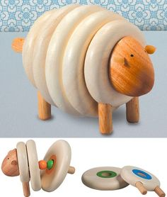 Plan Toys Wooden Lacing Sheep