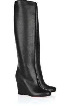 Christian Louboutin                                  Zepita 85 leather wedge boots