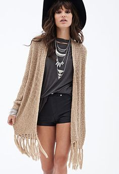 Fringed Open-Knit Sweater | FOREVER21 - 2000100887