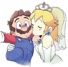 *kiss cheek* I love you so much❤ ~~~~~~~~~~~~~~~~~ ⭐art by: ~ ~ peach princesspeach marioxpeach mario supermario marioandpeach peachwedding supermarioodyssey luigi daisy rosalina pauline bowser love cute beautiful fanart nintendogirl nintendoboy Super Mario Bros, Super Mario Brothers, Super Smash Bros, Peach Mario, Mario And Princess Peach, Metroid, Mario Fan Art, Princesa Peach, Nintendo Princess