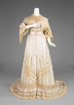 Negligée Date: 1905–10 Culture: American Medium: silk, cotton. Front
