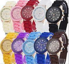 Yunan Wholesale Lot of 10 Pack Assorted Silicone Watch Genevas Women Men Unisex Jelly Watch * You can find more details by visiting the image link. (This is an affiliate link) #Watches
